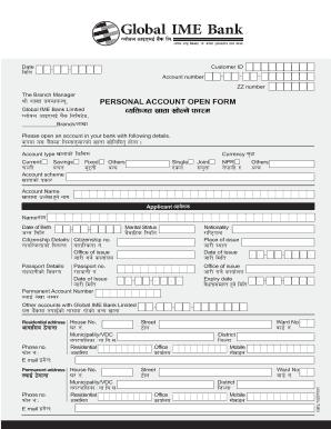 Global Ime Bank Internet Banking Fill Online Printable Fillable Blank Pdffiller