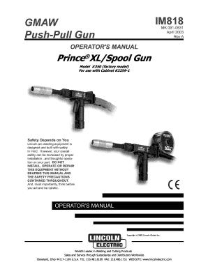 Fillable Online IM818 GMAW Push-Pull Gun Fax Email Print