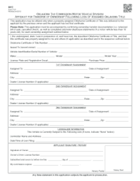 affidavit of heirship for a motor vehicle Forms and ...