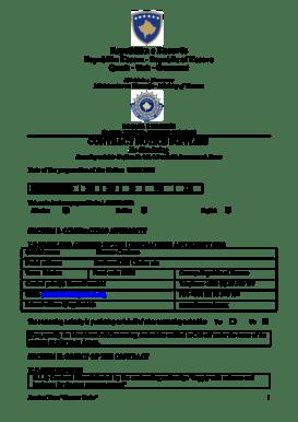 Fillable Online Republika e Kosov s CONTRACT NOTICE