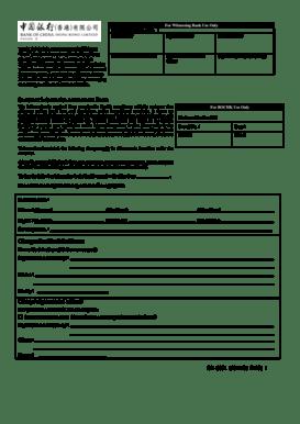 Fillable Online Customer Information Amendment Form Change