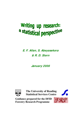 reading ac Writing Up Research - a statistical perspective - University of Reading - reading ac Email - pdfFiller