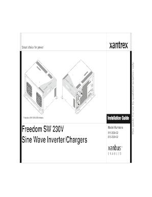 Fillable Online Freedom SW 3K2K 230V InvChg Install Guide