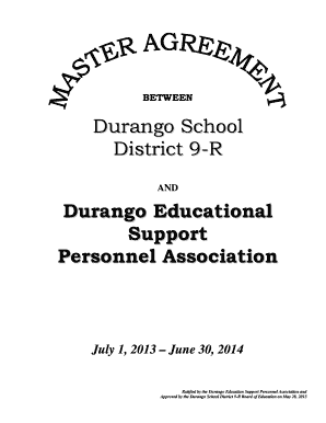 Fillable Online humanresources durangoschools Durango