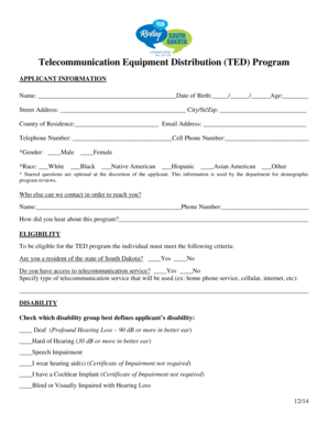 Fillable Online dhs sd DADS Provider Letter 07-01 Changes