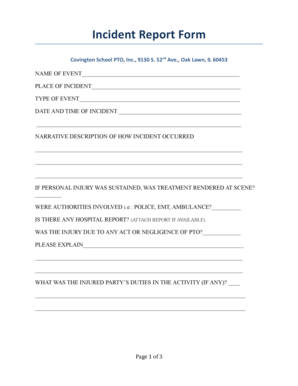 21 Printable school incident report form Templates