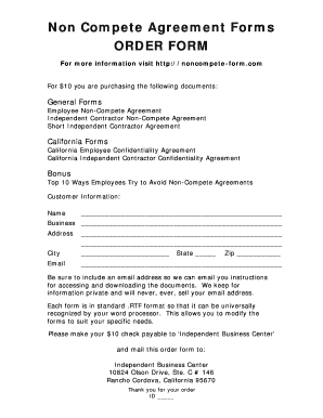 This form can also be used if an employee is set to leave the company with trade secrets or highly sensitive information. 22 Printable Noncompete Agreement Forms And Templates Fillable Samples In Pdf Word To Download Pdffiller