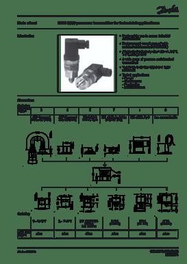 danfoss pressure transmitter mbs 3000 wiring diagram honeywell thermostat datasheet transmitters