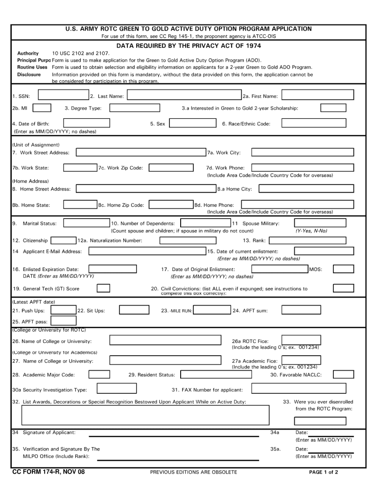2008-2020 Form CC 174-R Fill Online, Printable, Fillable