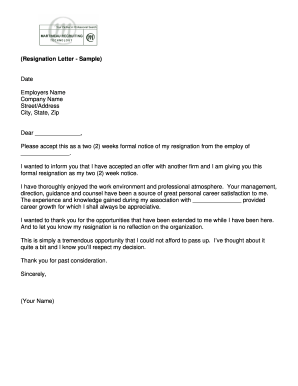 How To Fill Resignation Letter - Fill Online, Printable, Fillable ...