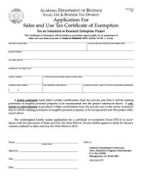Ste 2 Exemtion Form Alabama - Fill Online, Printable ...