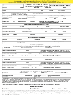 Hospital Ragistration Form  Fill Online Printable