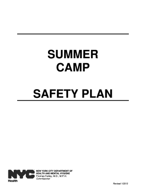 2013 Form NY Summer Camp Safety Plan Fill Online