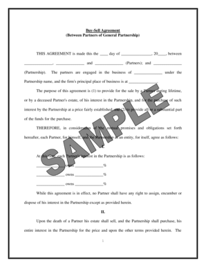 22 Printable General Partnership Agreement Forms and