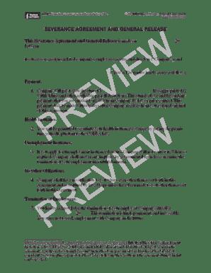 Fillable Online 201 Connecticut severance agreement