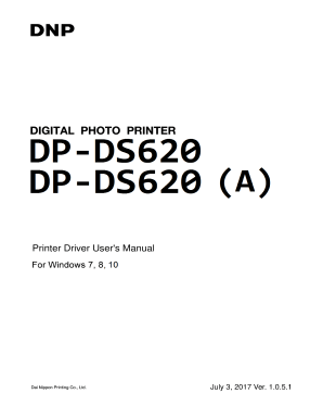 Fillable Online Printer Driver User's Manual. DP-DS620/DP