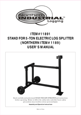 Fillable Online STAND FOR 5TON ELECTRIC LOG SPLITTER Fax