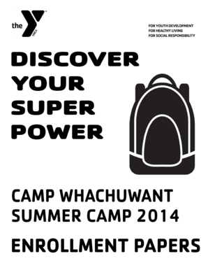 Fillable Online Download Camp Enrollment Papers Here