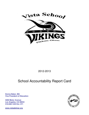Fillable Online Download the School Accountability Report