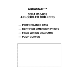 Carrier 30ra Wiring Diagram Boat Battery Charger Fillable Online Aquasnap 010 055 Air Cooled Chillers Hvacpartners Fax Email Print Pdffiller