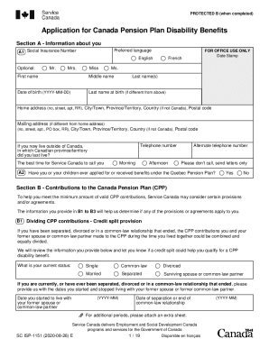 2020 Form Canada SC ISP-1151 Fill Online. Printable. Fillable. Blank - pdfFiller