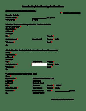 Fillable Online 4th Level Domain Registration Application