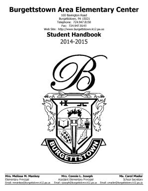 Fillable Online burgettstown k12 pa Student Handbook