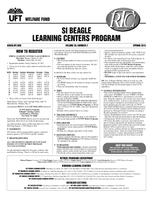 Fillable Online uft Si beagle learning centers program