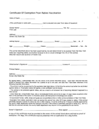 Nys Rabies Exemption Form - Fill Online, Printable ...