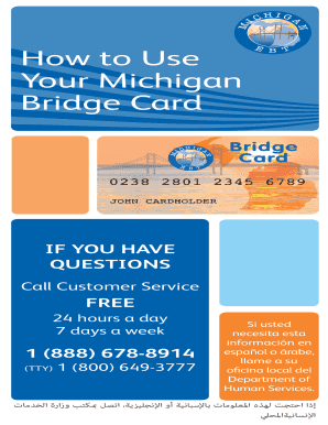 The extra benefits will be loaded onto the bridge cards as a separate payment from regular. Fillable Online Michigan Your Michigan Fax Email Print Pdffiller