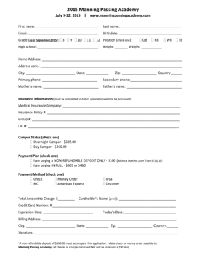 Fillable Online 2002 Oregon Football Camp Registration