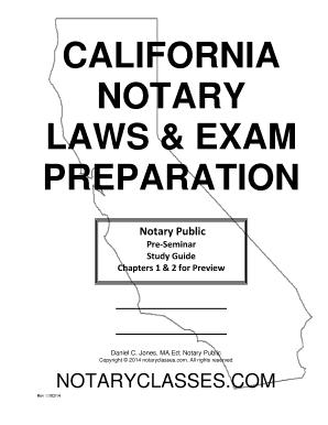 Fillable Online Pre Seminar Guide CALIFORNIA NOTARY LAWS