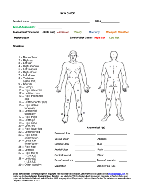 Body Check Form  Fill Online, Printable, Fillable, Blank