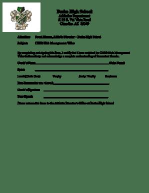 Fillable Online mychandlerschools Brent Rincon, Athletic