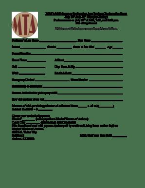 Fillable Online musicaltheatreofanthem MTAs Summer