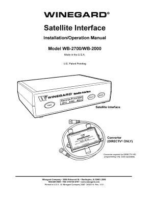 Winegard Interface Box 2700 Installation Instructions