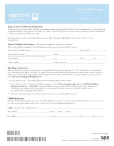 Edward hospital my chart also fill online printable fillable blank rh mychart child proxy form pdffiller