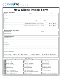 100 Printable Client Intake Form Templates - Fillable ...