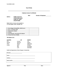 Shelby Ohio Income Tax Forms - Fill Online, Printable ...