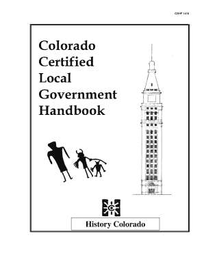 Fillable Online historycolorado Certified Local Government