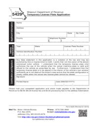 Paper Template For Temp Missouri Driver Lic - Fill Online ...