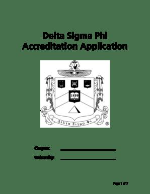 Fillable Online deltasig Delta Sigma Phi Accreditation