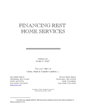 Fillable Online F: forms ARTICLES Financing Rest Home