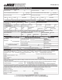 2013 Form MD VR-005 Fill Online, Printable, Fillable ...