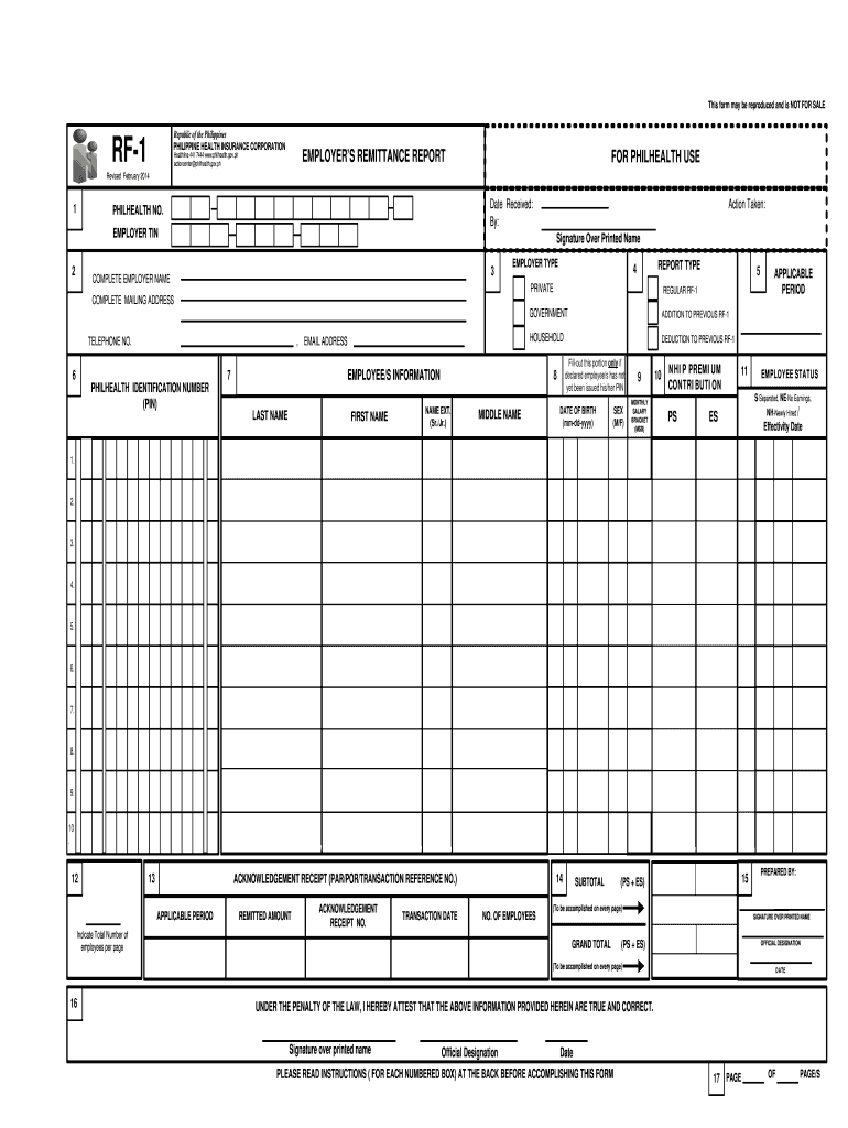 2014-2019 Form PH RF-1 Fill Online, Printable, Fillable