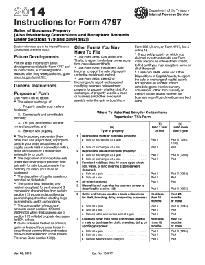 2014 Form IRS Instruction 4797 Fill Online, Printable