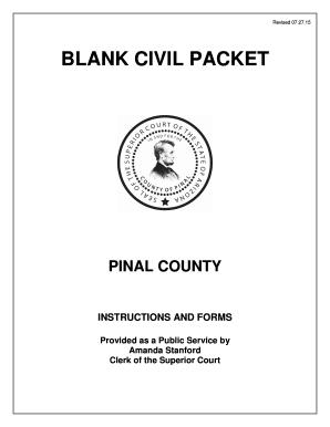 2015 Form AZ Blank Civil Packet Fill Online, Printable