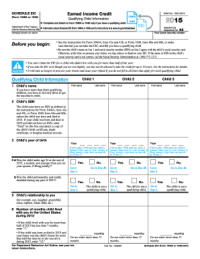 2015 Form IRS 1040 - Schedule EIC Fill Online, Printable ...