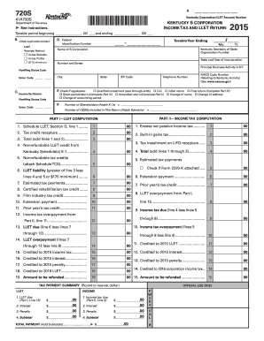 2015 Form KY DoR 720S Fill Online, Printable, Fillable