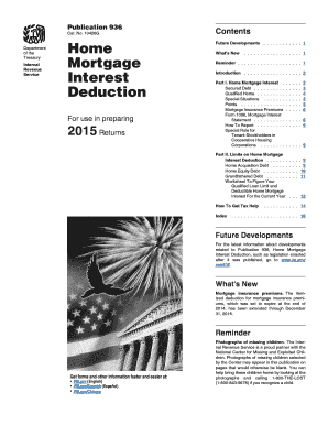 2015 Form IRS Publication 936 Fill Online, Printable